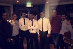 The Spice Lounge team with Michelle Keegan and Mark Wright.